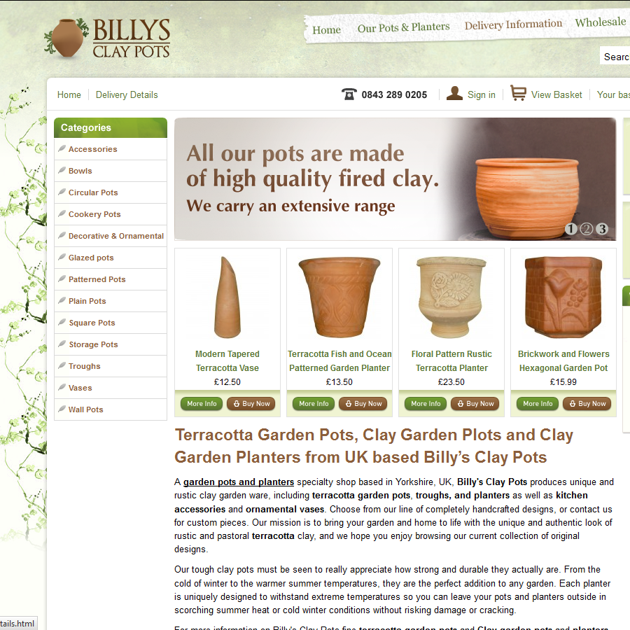 Billy's Clay Pots